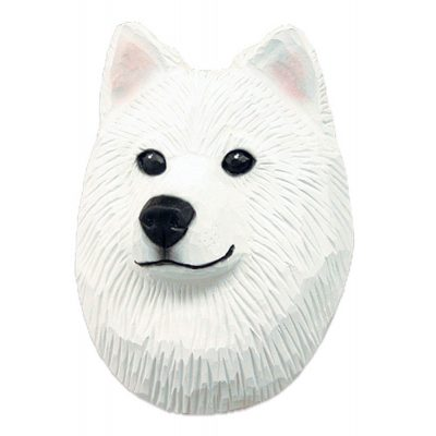 Samoyed Head Plaque Figurine 1
