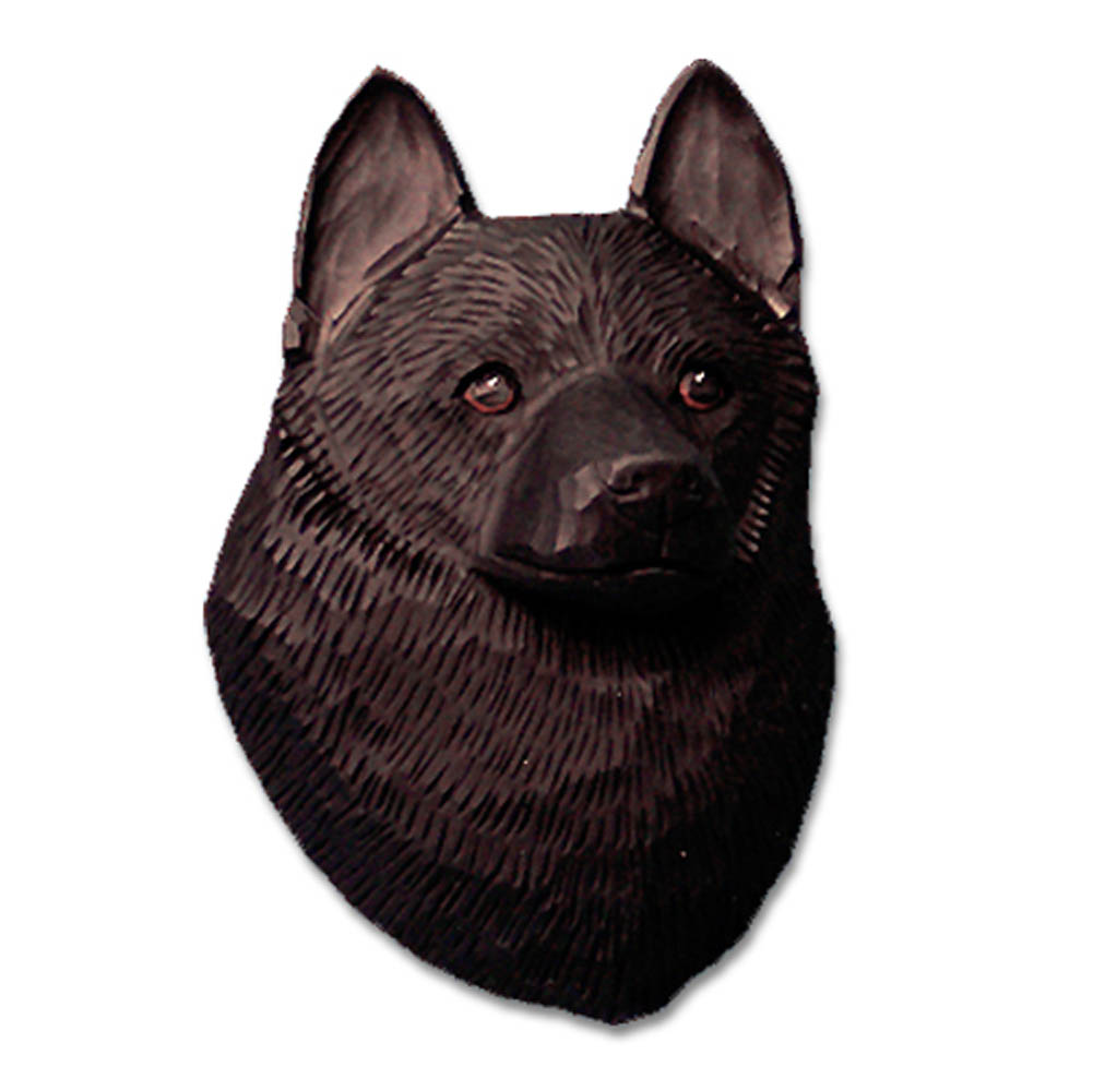 Schipperke Head Plaque Figurine
