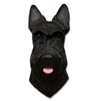 Scottish Terrier Head Plaque Figurine Black 1