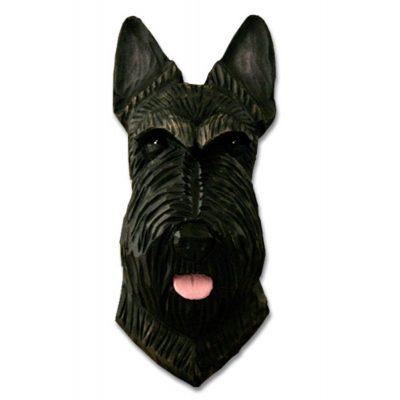 Scottish Terrier Head Plaque Figurine Brindle 1