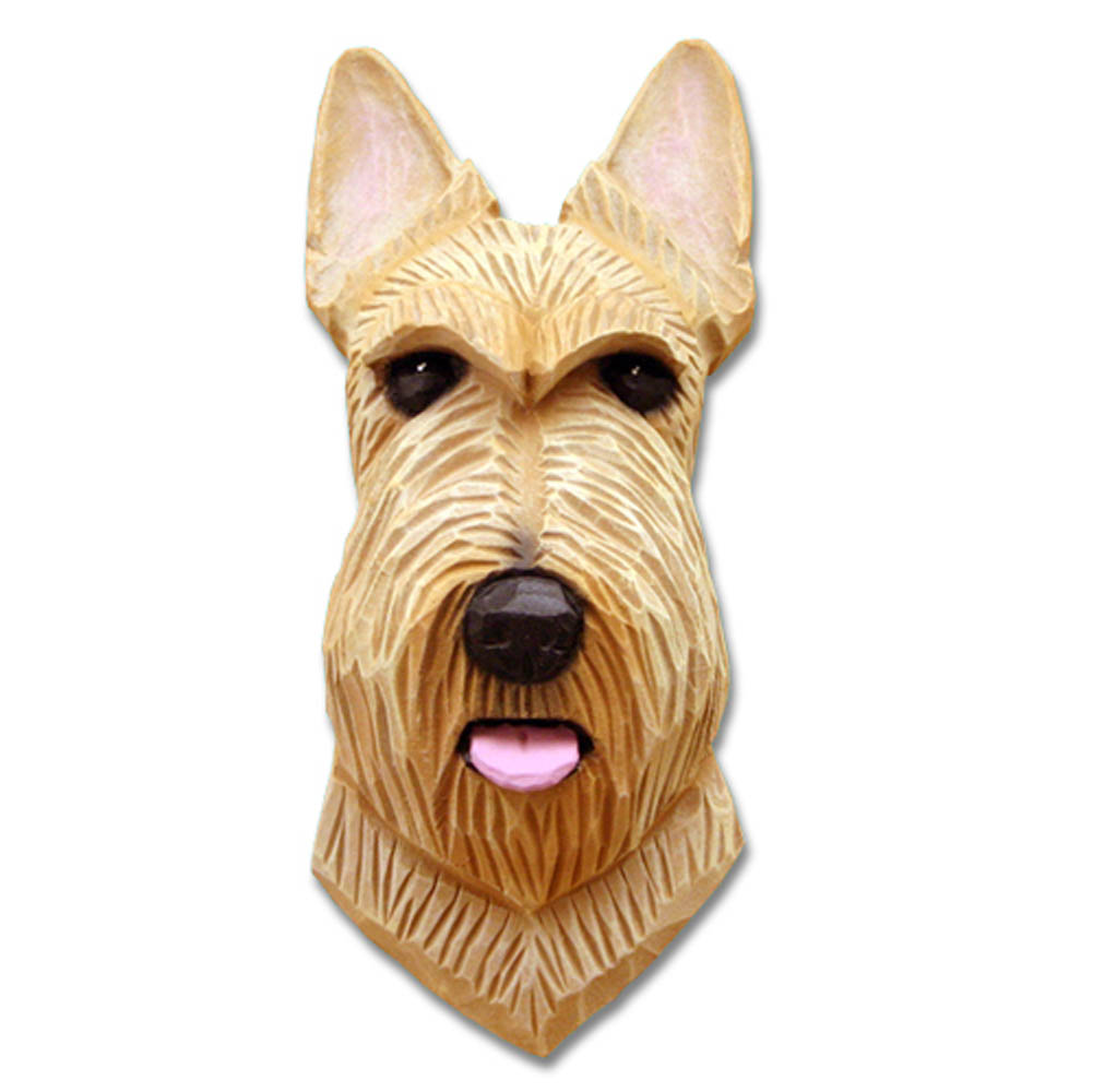 Scottish Terrier Head Plaque Figurine Wheaten