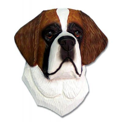 Saint Bernard Head Plaque Figurine 1