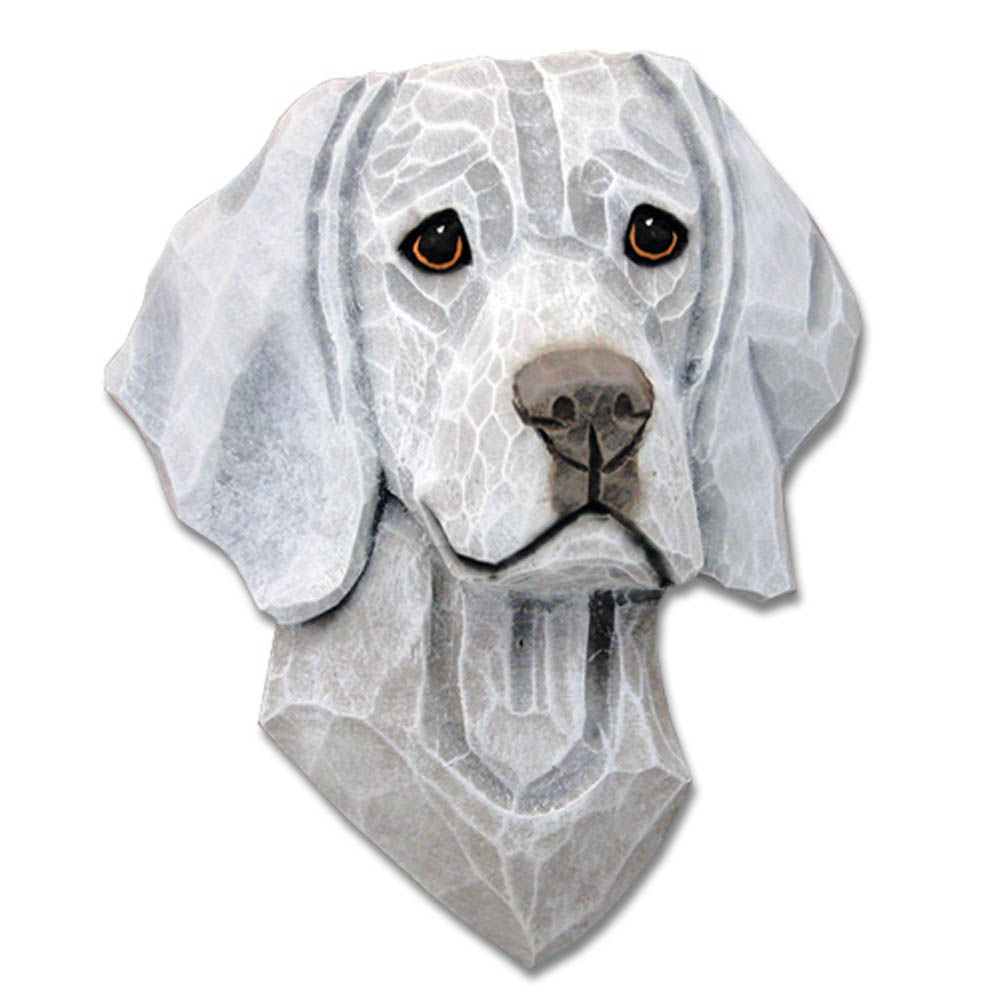 Weimaraner Head Plaque Figurine