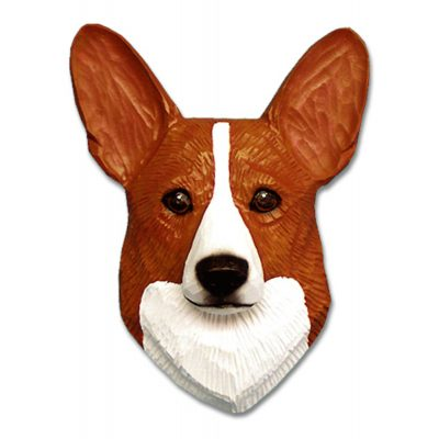 Corgi Head Plaque Figurine Red Pembroke 1