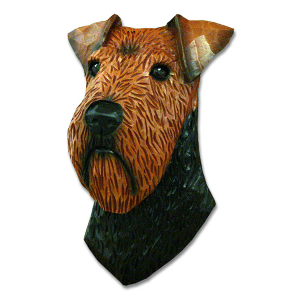 Welsh Terrier Head Plaque Figurine