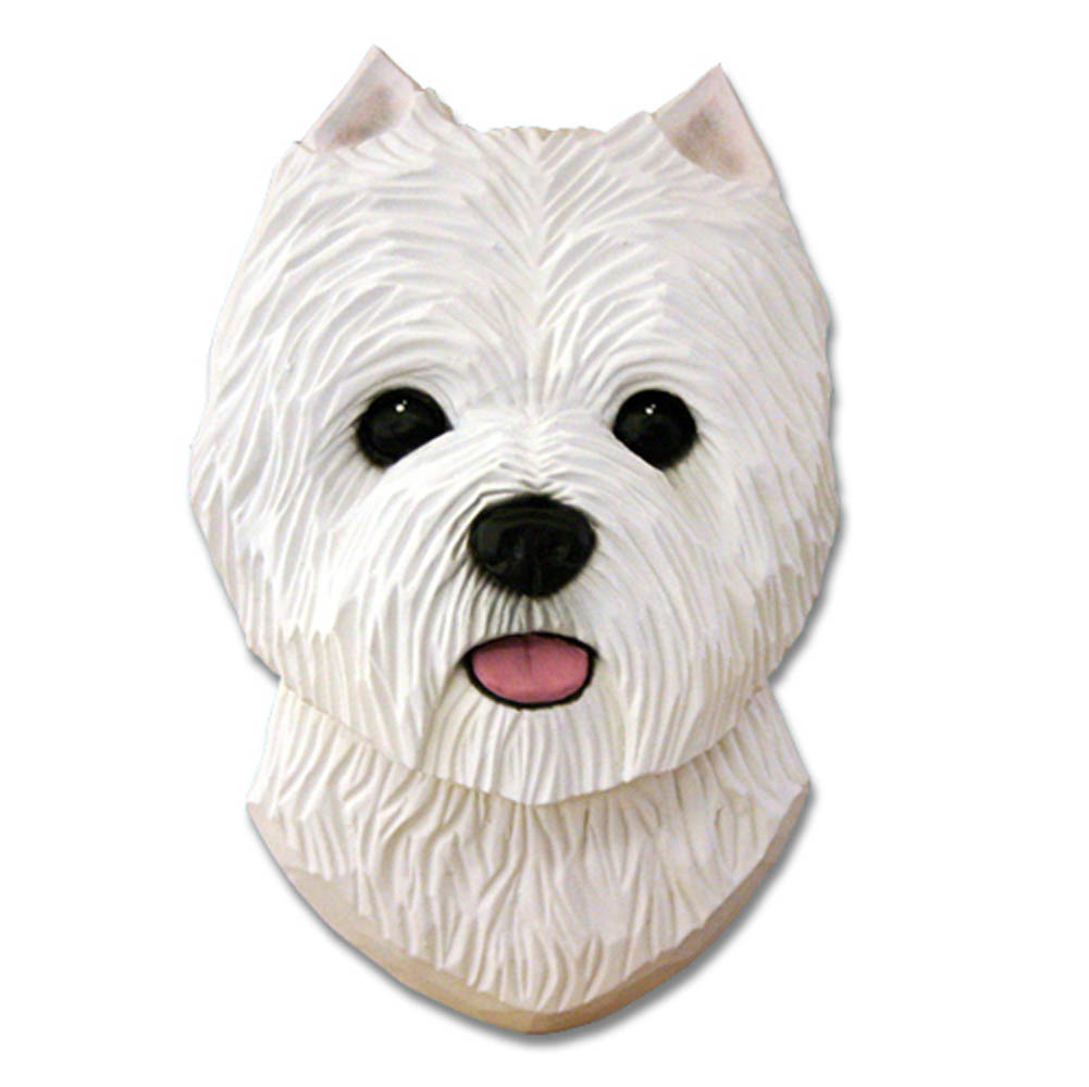 Westie Head Plaque Figurine