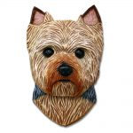 Yorkie Head Plaque Figurine Puppy