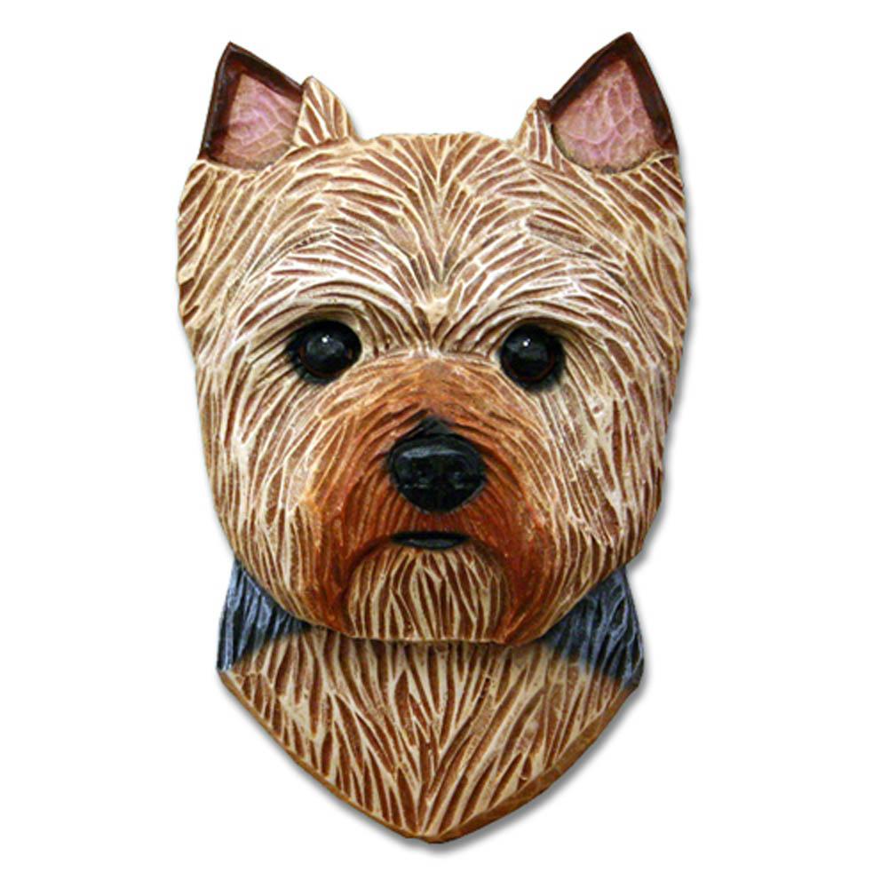 Yorkie Head Plaque Figurine Puppy