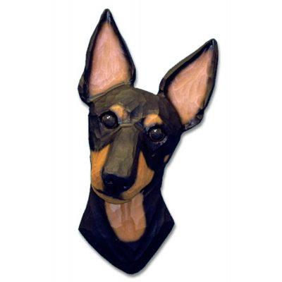 Manchester Terrier Head Plaque Figurine