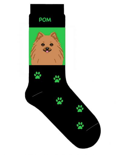 Pomeranian Socks Lightweight Cotton Crew Stretch Tan