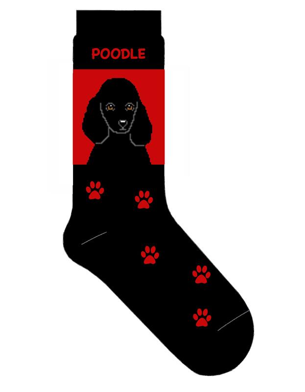 Poodle Black Dog Breed Socks