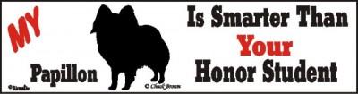 Papillon Smart Dog Bumper Sticker