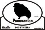 Pomeranian Dog Silhouette Bumper Sticker