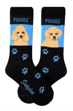 Poodle Apricot & Poodle Sport Cut Socks - Black and Blue in Color