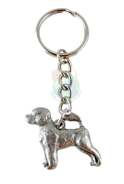 Portuguese Water Dog Pewter Keychain