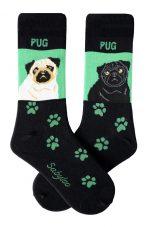 Pug Socks Green