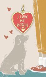 I Love my Rescue Collar Charm