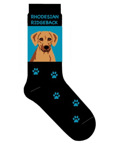 Rhodesian Ridgeback Socks Lightweight Cotton Crew Stretch
