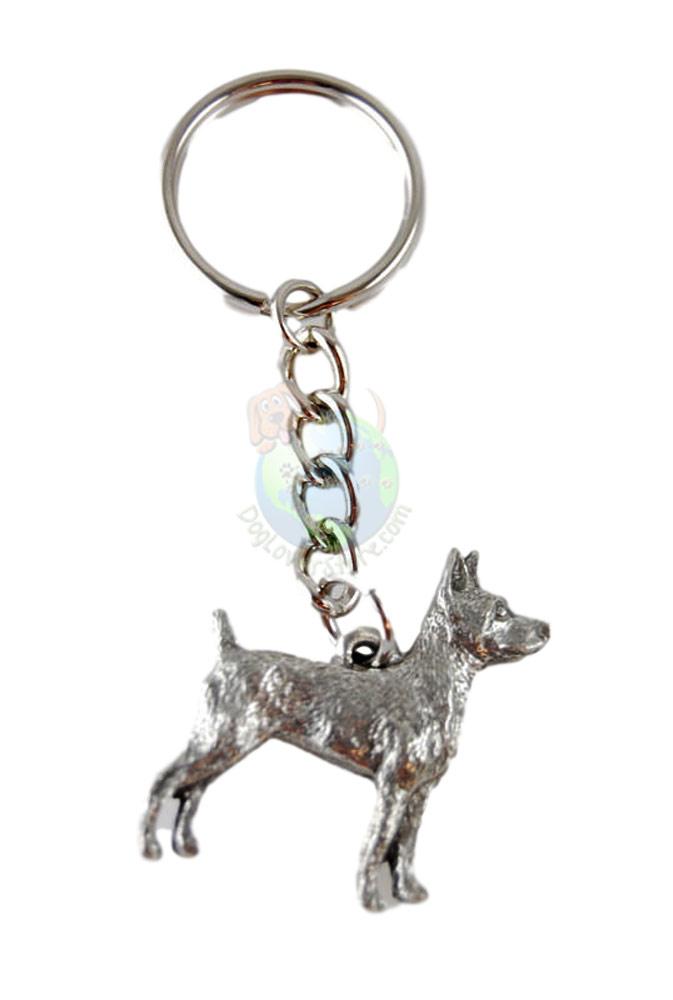 Rat Terrier Pewter Keychain
