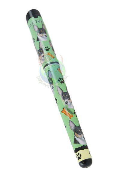 Rat Terrier Writing Pen Green in Color