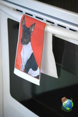 Rat Terrier Kitchen Hand Towel