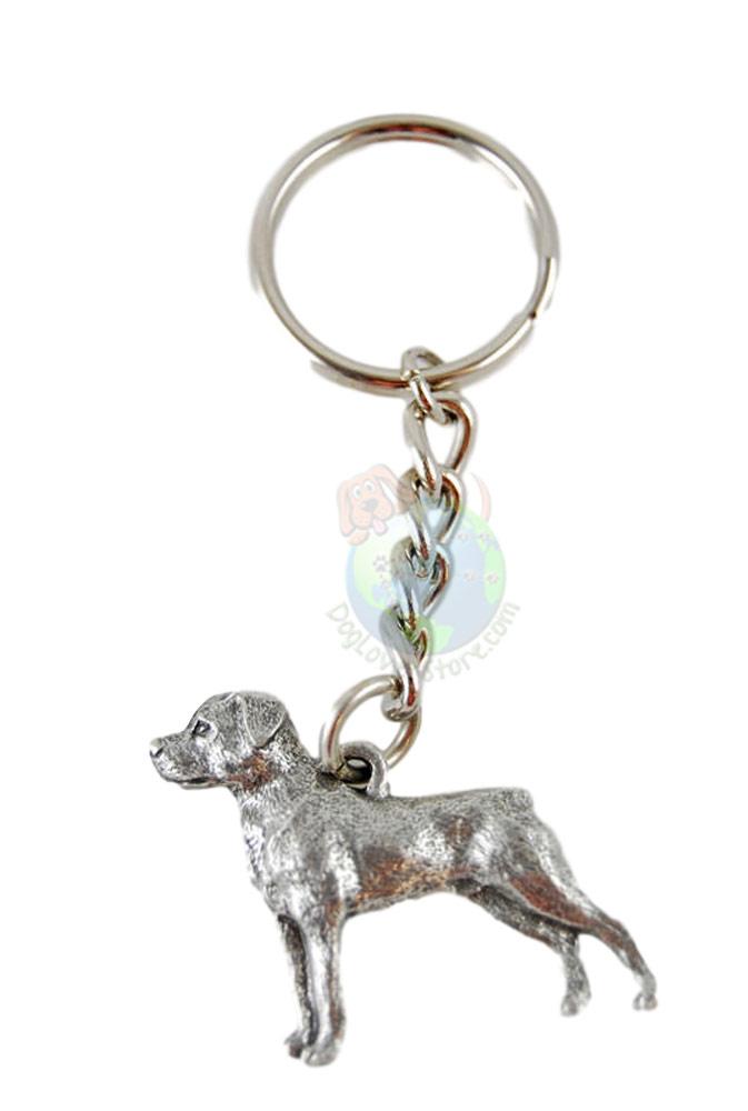 Rottweiler Pewter Keychain