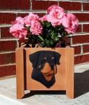 Rottweiler Planter Flower Pot