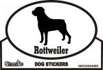 Rottweiler Dog Silhouette Bumper Sticker