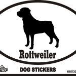 Rottweiler Dog Silhouette Bumper Sticker 1