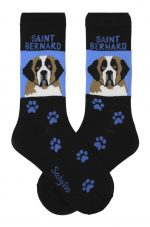 Saint Bernard Socks - Blue & Black in Color