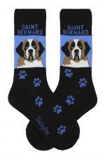 Saint Bernard Socks - Blue & Black in Color