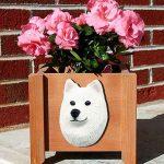 Samoyed Planter Flower Pot 1