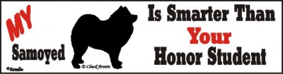 Samoyed Smart Dog Bumper Sticker
