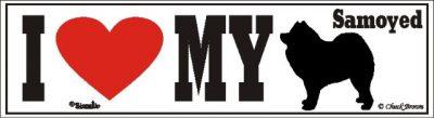 I Love My Samoyed Dog Bumper Sticker