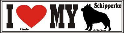 I Love My Schipperke Dog Bumper Sticker