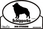 Schipperke Dog Silhouette Bumper Sticker
