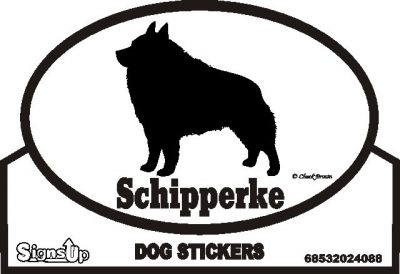 Schipperke Dog Silhouette Bumper Sticker 1