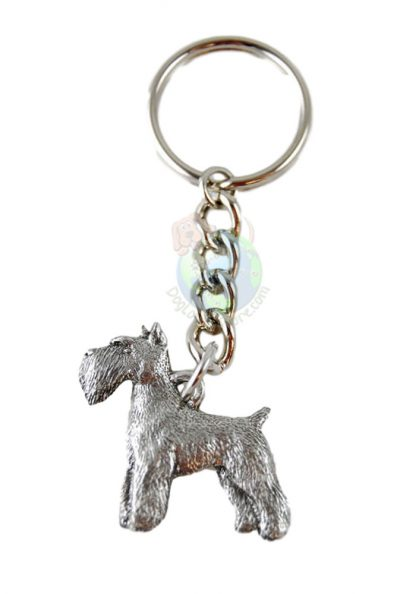Schnauzer-Dog-Fine-Pewter-Silver-Keychain-Key-Chain-Ring-181280138670