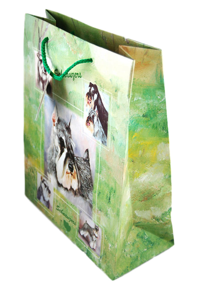 Schnauzer Gift Bag Green in Color