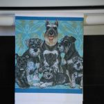 Schnauzer Kitchen Hand Towel 2
