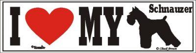 I Love My Schnauzer Dog Bumper Sticker