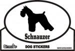 Schnauzer Dog Silhouette Bumper Sticker