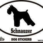 Schnauzer Dog Silhouette Bumper Sticker 1