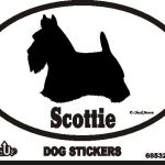 Scottish Terrier Dog Silhouette Bumper Sticker 1