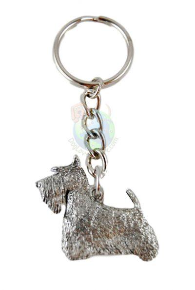 Scottish Terrier Pewter Keychain