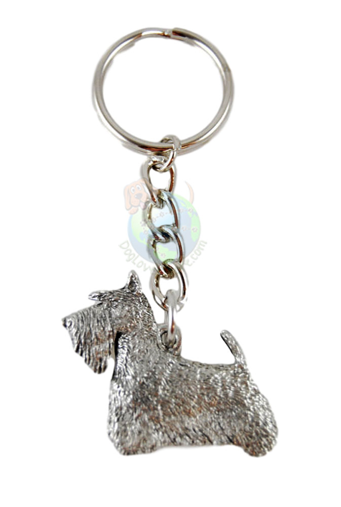 Scottish Terrier Pewter Keychain