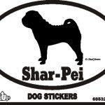Shar Pei Dog Silhouette Bumper Sticker 1