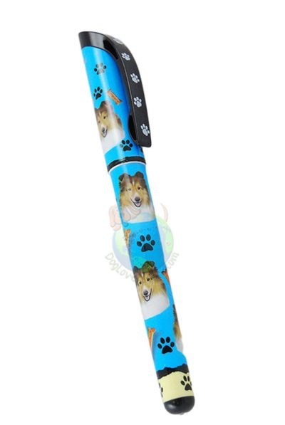 Sable Sheltie Writing Pen Blue in Color