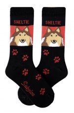 Sheltie Socks - Red and Black in Color