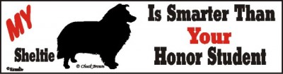 Sheltie Smart Dog Bumper Sticker